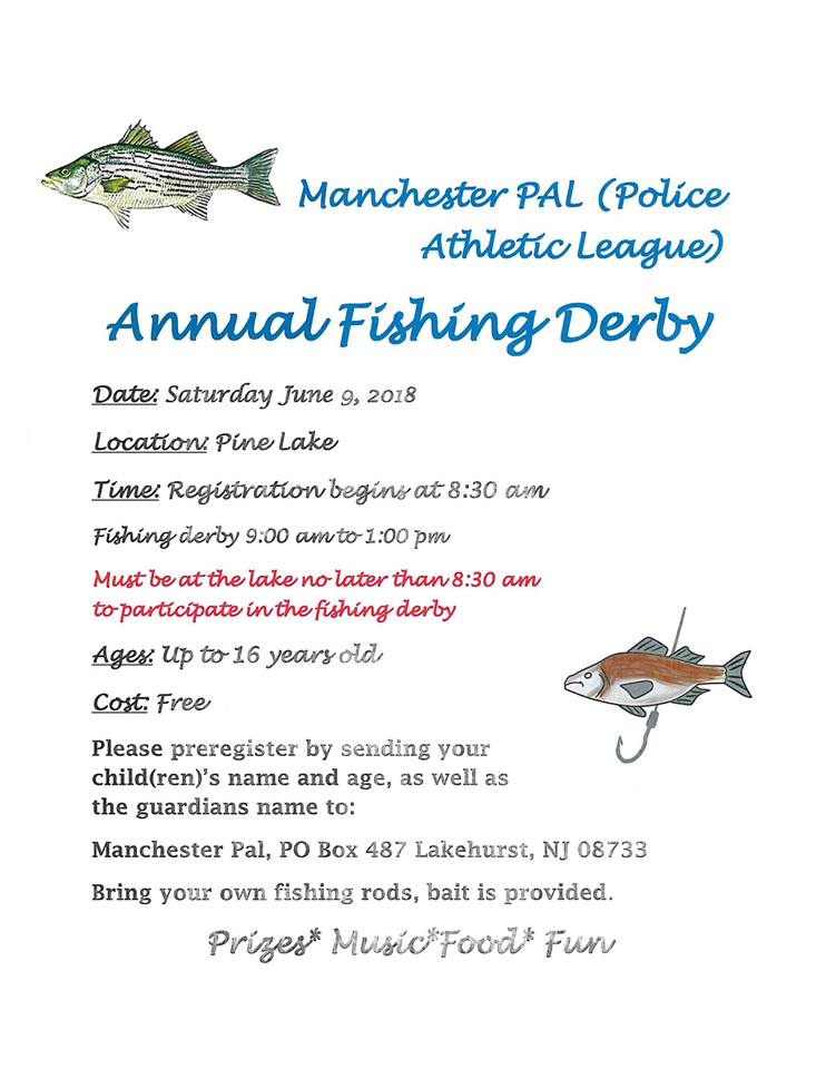 Manchester PAL Annual Fishing Derby 6/9/18